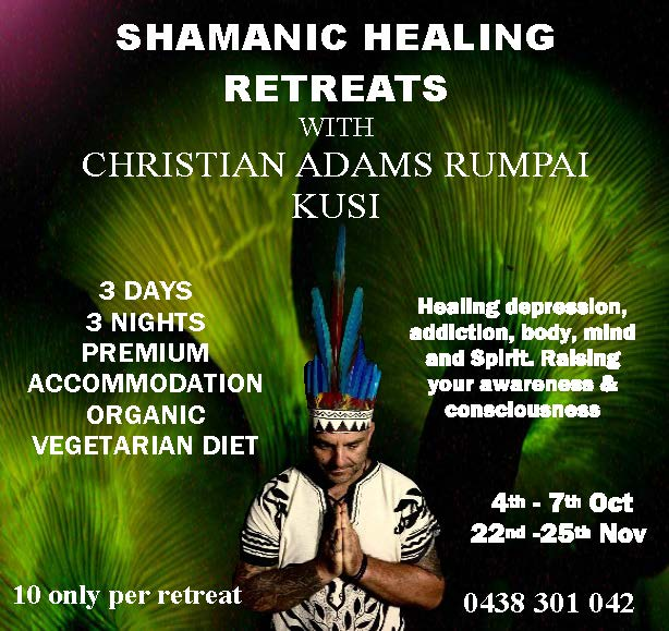 3 day Shamanic Healing Retreats - Christian Adams